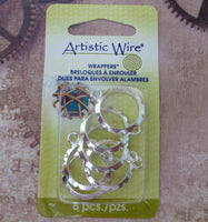 Artistic Wire 20mm Silver Plated Wrapper Pack of 6