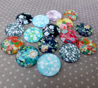 14mm Floral Cabochon Mix Pack of 15