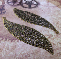 5 Large Filigree Leaves