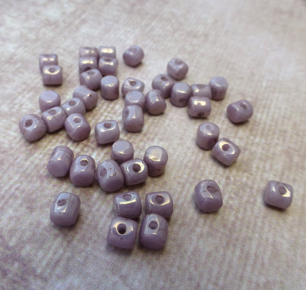 5 grams Minos par Puca® Ceramic Look Opaque Mix Violet Gold Beads