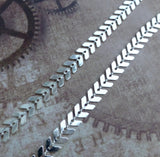 Silver Plated Chevron Chain 1 Meter