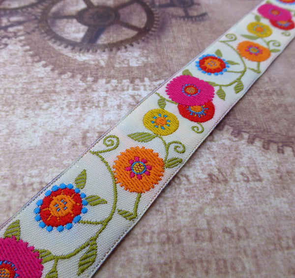 Floral Suzani Ribbon by LFN Textiles 1 Meter