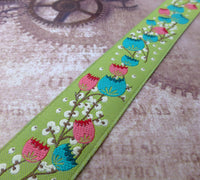 Green Early Risers Ribbon by Anna Maria Horner 1 Meter
