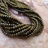 Brown Iris 6/0 Czech Glass Seed Beads 20 grams
