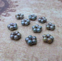 Lazure Blue Forget Me Not Flower Beads 120 Beads