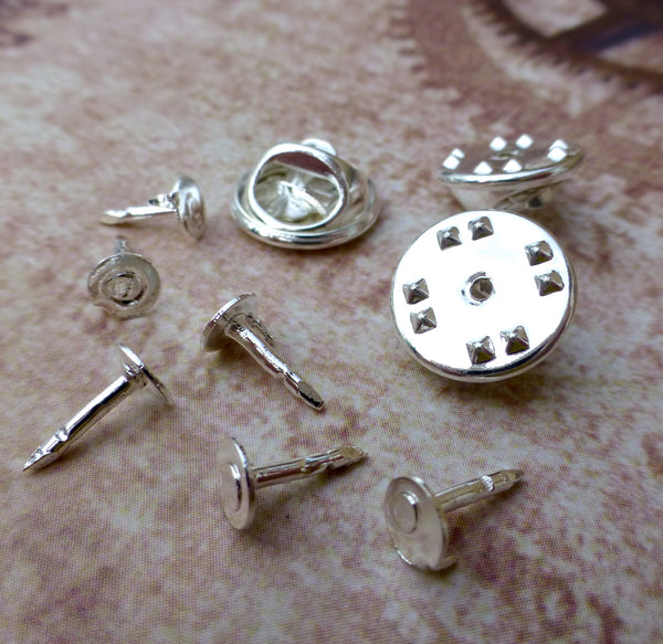 Small Silver Tie Tacks Lapel Scatter Pins Pack of 100