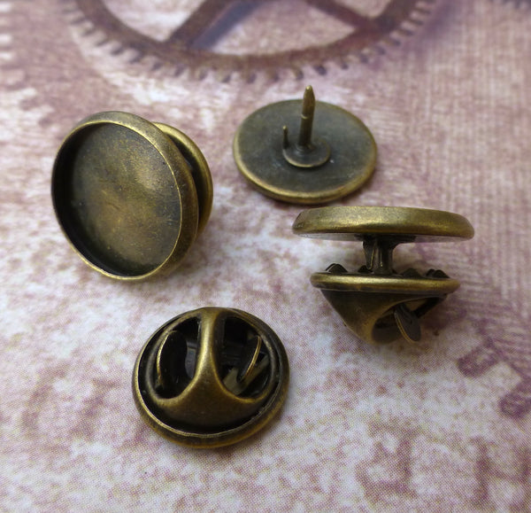 Bronze Tie Tacks Lapel Scatter Pins with 12 mm Base Pack of 30