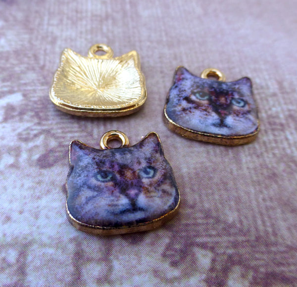 Brown Cat Charms Pack of 5