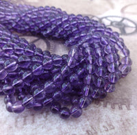 6mm Amethyst Gemstone Beads AAA Grade Strand of 68