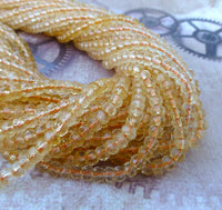 Citrine Faceted Rondelle Gemstone Beads Strand of 125