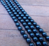 Montana 6mm Round Czech Glass Pearls Strand of 75 beads