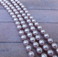 Light Amethyst 6mm Round Czech Glass Pearls Strand of 75 beads