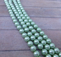 Light Sapphire 6mm Round Czech Glass Pearls Strand of 75 beads