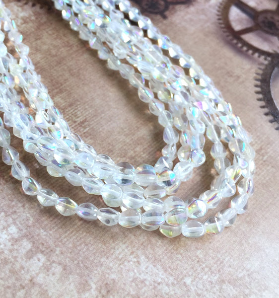 Crystal AB 5mm Pinch Beads Strand of 50 Beads