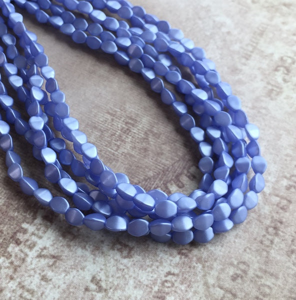 Pastel Light Sapphire 5mm Pinch Beads Strand of 50 Beads