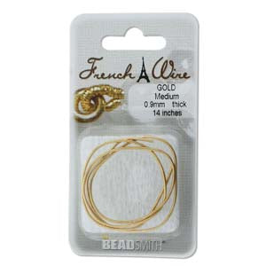 0.9mm Medium French Wire Gold Colour Gimp Bullion Wire