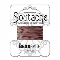 3mm Rayon Soutache Beaver Brown Cord 3 yards
