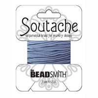 3mm Rayon Soutache Cord Blue 3 yards