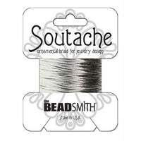 3mm Silver Metallic Rayon Soutache Cord 3 yards