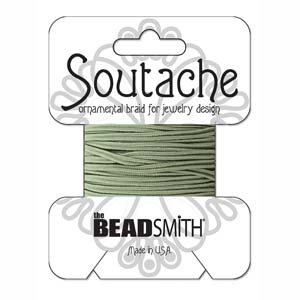 3mm Rayon Soutache Cord Sage 3 yards