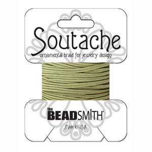 3mm Rayon Soutache Cord Ivy 3 yards