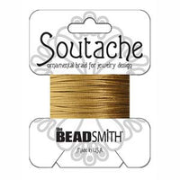 3mm Rayon Soutache Cord Antique Gold 3 yards