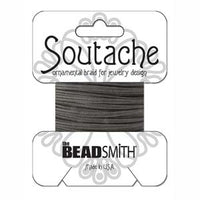 3mm Black Rayon Soutache Cord 3 yards