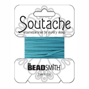 3mm Rayon Soutache Cord Duck Blue 3 yards