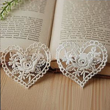 Lace Patch Heart Applique Pack of 2