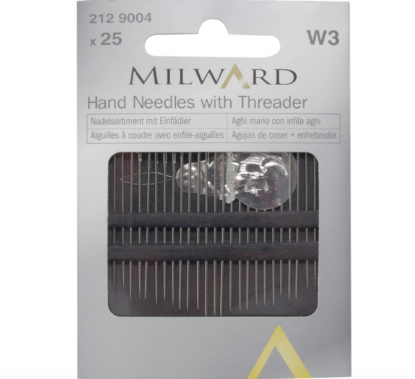 Milward Assorted 25 Hand Needles With Threader