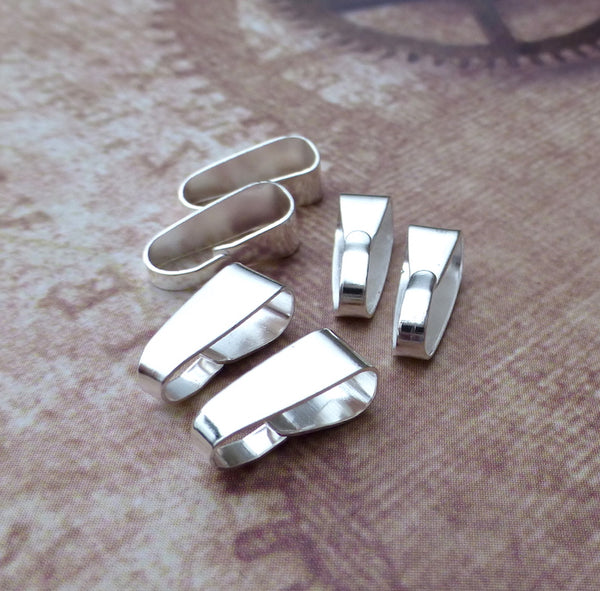 Silver Plated Clip Bail Pack of 50