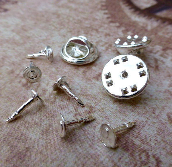 Small Silver Tie Tacks Lapel Scatter Pins Pack of 20