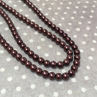 Bronze 4 mm Round Czech Glass Pearls Strand of 120 beads