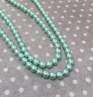 Light Sapphire 4 mm Round Czech Glass Pearls Strand of 120 beads