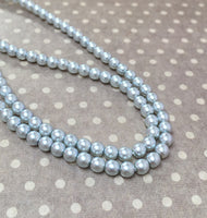 Tanzanite 4 mm Round Czech Glass Pearls Strand of 120 beads