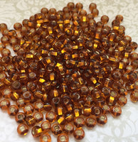 Topaz Silver Lined 6/0 Czech Glass Seed Beads 20 grams SB6-17090