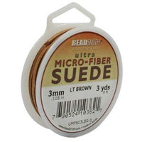 Ultra Micro Fiber Suede Cord 3mm Light Brown 3 yards