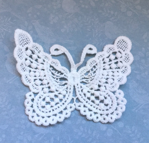 Lace Patch Butterfly Applique Pack of 2