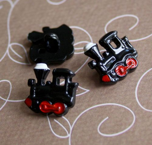 Resin Shank Button Locomotive Pack of 20