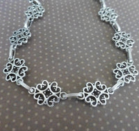 One Meter of Antique Silver Fancy Links Chain