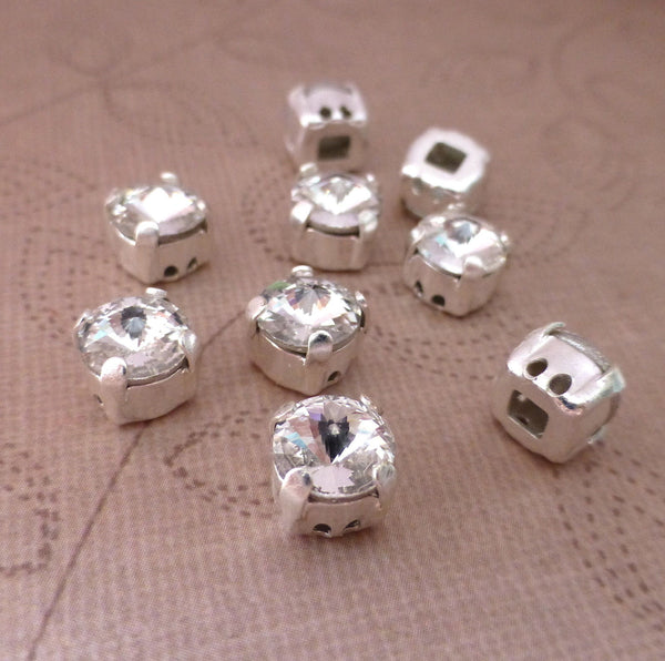 Sew On Rhinestone Cabochons AAA Quality Pack of 10