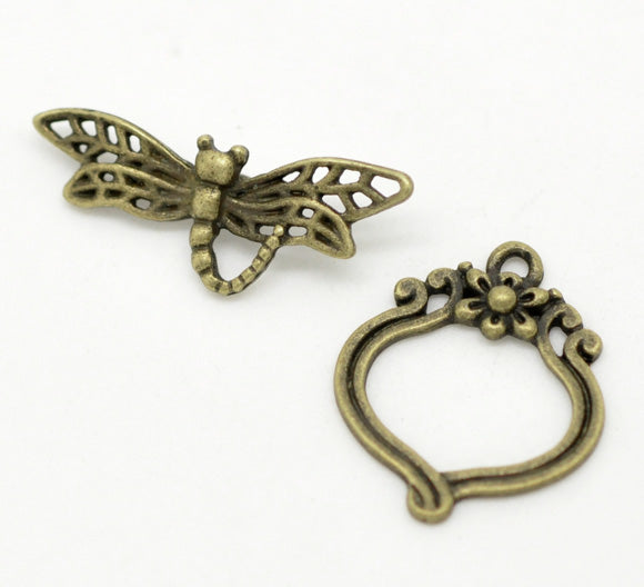 5 Sets - Toggle Clasp Dragonfly