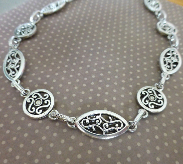 One Meter of Antique Silver Fancy Chain