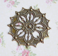 Pack of 20 - Antique Bronze Filigree Component