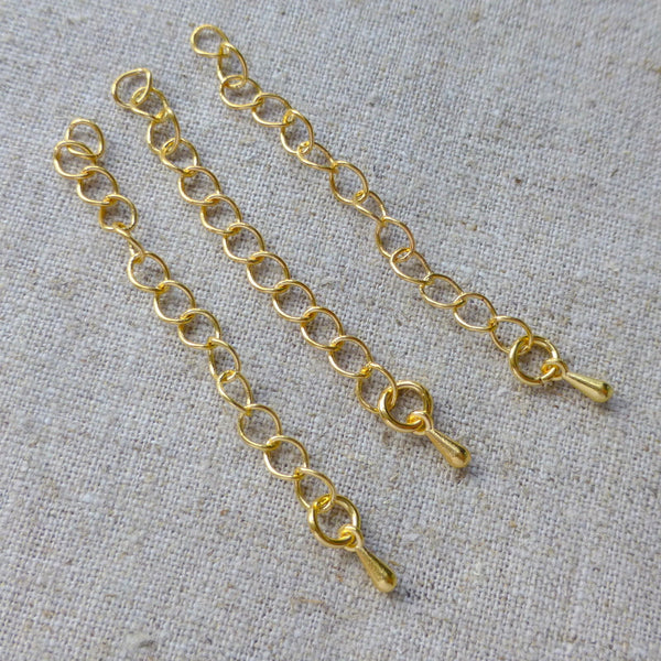 Gold Extension Chain with Teardrop Pack of 20