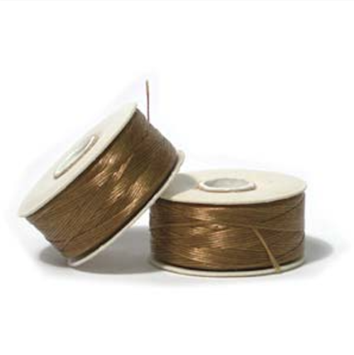 Golden Brown Nymo Beading Thread Size B