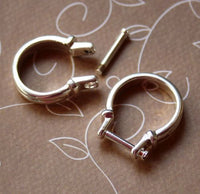 Pack of 2 - Silver Tone Ring Lamp work Setting