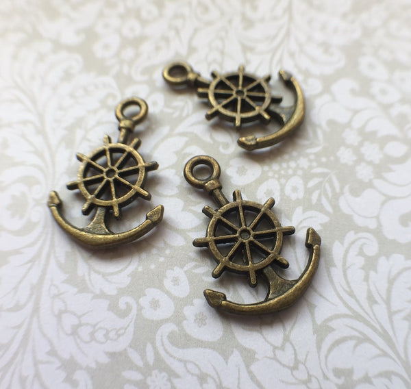 Antique Bronze Charm Anchor Pack of 20