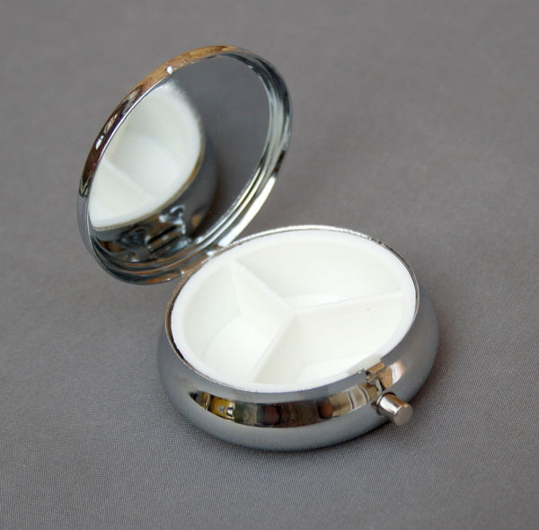 Pill Box Base for Cabochon Setting or Resin Blanks Pack of 2