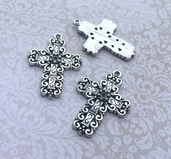 Cross Pendant Antique Silver Pack of 2